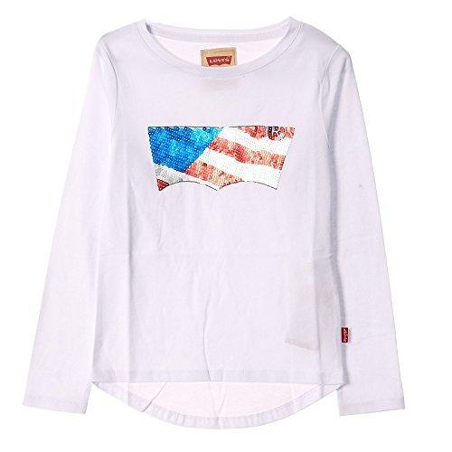 Fille À Blanc shirt Longues Manches Levi's T qRpSwXXA4