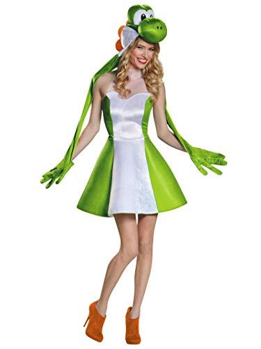 Disguise Women's Yoshi Female Costume, Green, Medium