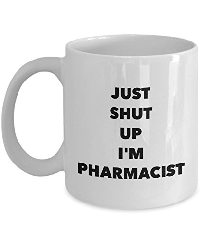 Western Cowboy Clipart - Just Shut Up I'm Pharmacist, 11Oz Coffee Mug for Dad, Grandpa, Husband From Son, Daughter, Wife for Coffee & Tea Lovers