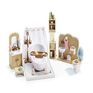 Amazoncom Sylvanian Families Calico Critters Deluxe Bathroom - Calico critters bathroom