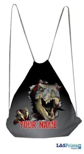 Schultasche mit Dinosaurier personalisiert
