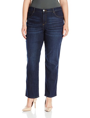 Fit Straight Leg Stretch Jeans - LEE Women's Plus-Size Relaxed Fit Straight Leg Jean, Verona, 20W Medium
