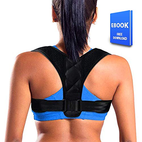 Posture Corrector for Women Men - Effective Comfortable Adjustable Posture Corrector - FDA Approved Posture Support - Back Brace - Kyphosis Brace (Regular)
