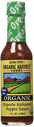Organic Harvest Gluten Free Chipotle Habanero Pepper Sauce, 5 Fluid Ounce -- 12 per case. by Organic (Organic Chipotle)