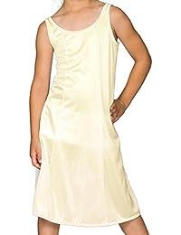 396f53d80164 I.C. Collections Big Girls White Sleek Nylon Slip - Tea Length, 8-16