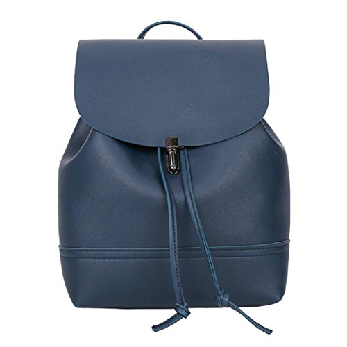 Trave Casual Blue Leather New Bag Satchel Women Women Shoulder School Vintage Backpack Bag Drawstring Bag Sunshinehomely f7aqwzz