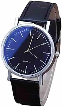 b35167815 Kaimu New Men Fashion Synthetic Leather Band Round Analog Quartz Wrist Watch  Bracelet Bangle Wrist Watches