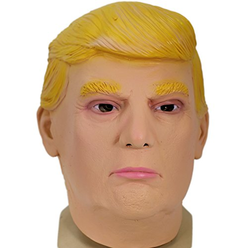 Donald Trump Mask Deluxe Full Head Latex Mask Celebrity Face Mask Xcoser ()