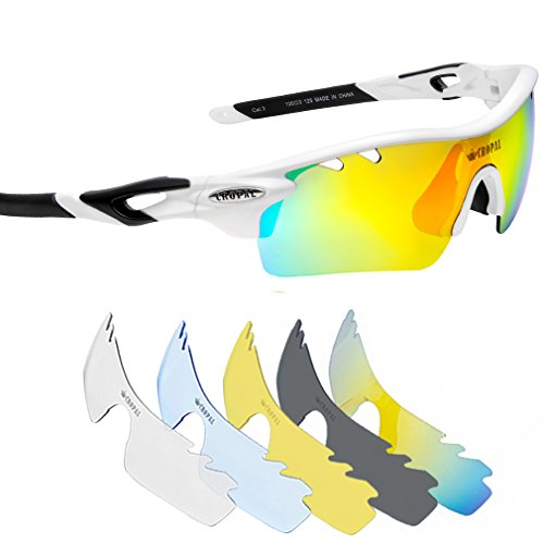 CROPAL Sports Sunglasses, Polarized Baseball Sunglasses for Cycling, Running, - Sunglasses Baseball Youth