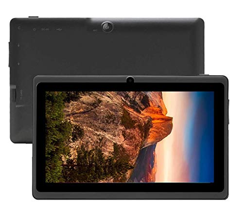 7 inch Tablet Google Android 8.0 Quad Core 1024×600 Dual Camera Wi-Fi Bluetooth 1GB/8GB Play Store Netfilix Skype 3D Game Supported GMS Certified (Black)