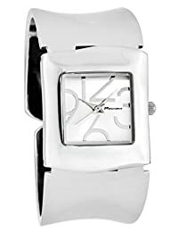 Marciano Women's | Square Face & Silver Tone Over-sized Bangle With Large Numbers | DY0701