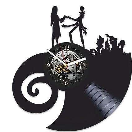 xmas gift for kids vinyl wall clock the nightmare before christmas clock xmas