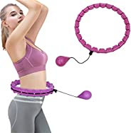 Weighted Smart Fitness Hoop,Weighted Smart Hula Exercise Hoop for Adults and Kids, Exercise Hoops with 24 Deta