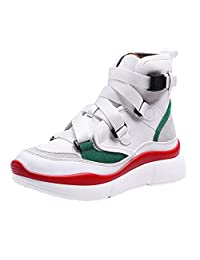 High-top Sneakers Women's Retro Platform Sport Shoes Thick Bottom Buckle Strap