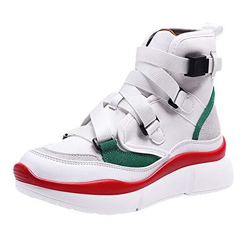 Thick Bottom Buckle Strap Sneakers Women's Retro Leisure Platform Sport Shoes -