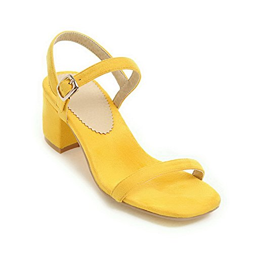 AN Womens Non-Marking Solid Dress Urethane Sandals DIU00751 Yellow HuSS7vT