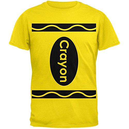 [Halloween Crayon Costume Yellow T-Shirt - X-Large] (Halloween Costumes Yellow Tshirt)
