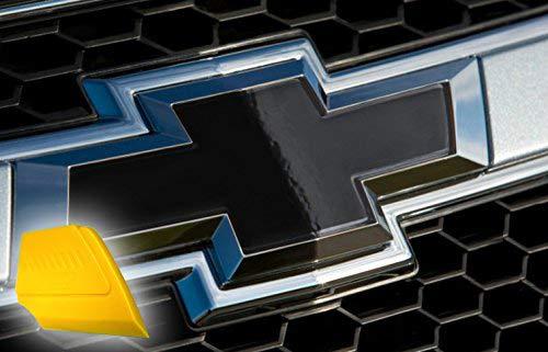 VViViD XPO Gloss Black Chevy Bowtie Logo Wrap Kit (6 Rolls (11.8