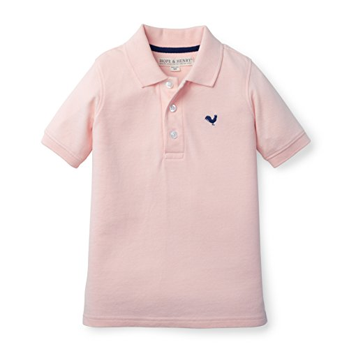 Hope & Henry Boys Soft Lightweight Rose Pique Polo Made With Organic - Hope Light T-shirt