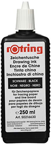 rOtring S0216630 Isograph Technical Drawing Pen, Liquid Ink, 250 ml, Black