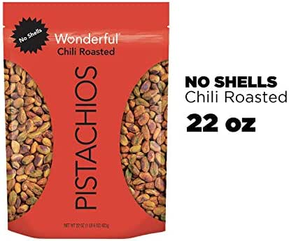 Nuts & Seeds: Wonderful Pistachios No Shells Chili Roasted