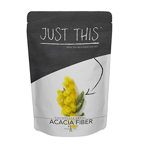 Pure Acacia Fiber Supplement Powder - Natural Soluble Plant Based Prebiotic to Help Digestion, Support Gut Health and Weight Loss - Simply Mix in Water or Liquid - Just ThisTM Brand 16 oz