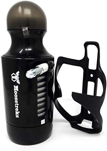 Moosetreks Bike Bottle Lock with Cage Bottle-Shaped Bike Cable Lock with Free Bottle Cage