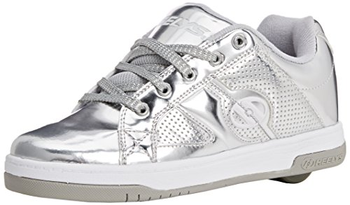 Heelys Split Chrome Skate Shoe (Toddler/Little Kid/Big Kid), Silver, 3 M US Little -