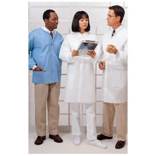 1135B67CS White Cardinal Health 1303LC Basic Lab Coat Pack of 25 SMS Fabric X-Large