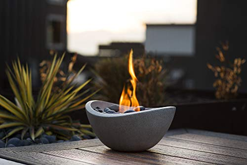 Indoor Ventless Fireplace - Terra Flame OD-TT-WAV-BGE-03N Fire Bowl, Stone