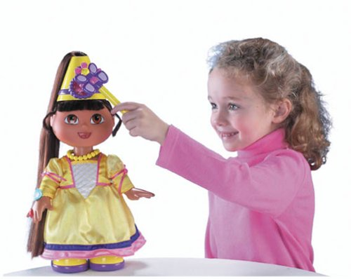 Dora The Explorer: Magic Hair Fairytale Princess Dora Doll