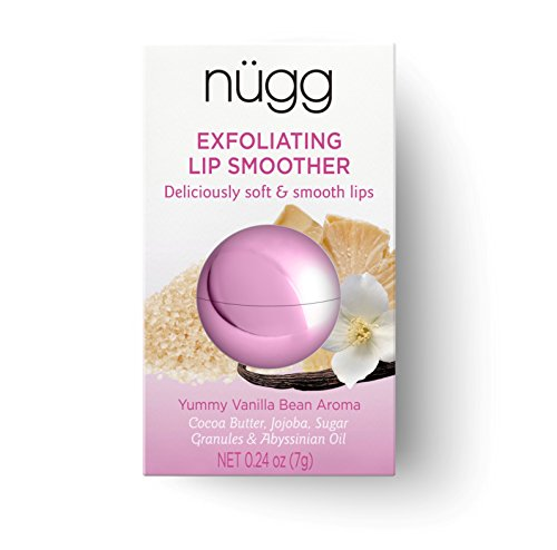 nügg SUGAR LIP SCRUB and LIP EXFOLIATOR for Smooth and Soft Lips; ALL NATURAL, VEGAN and CRUELTY-FREE; 0.24oz (Lip Exfoliating Treatment)