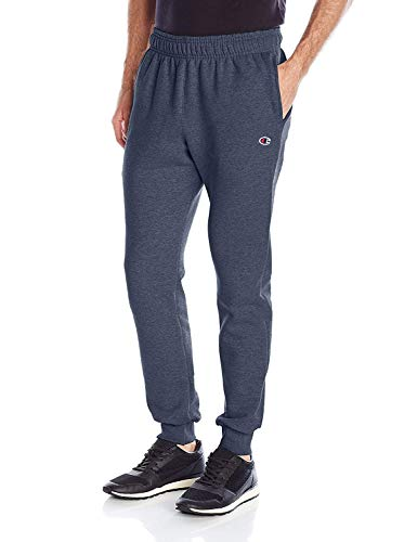 Champion Men's Powerblend Retro Fleece Jogger Pant, Navy Heather, X-Large