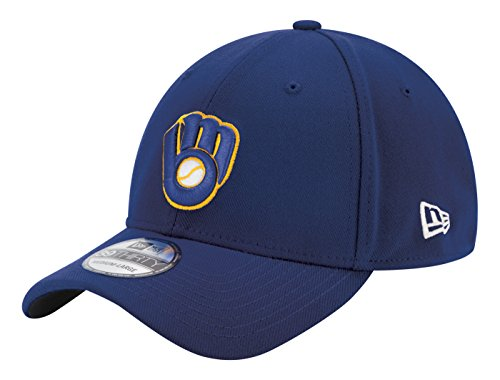 MLB Milwaukee Brewers Men's ALT2 Team Classic 39THIRTY Stretch Fit Cap, Navy, Large/X-Large ()