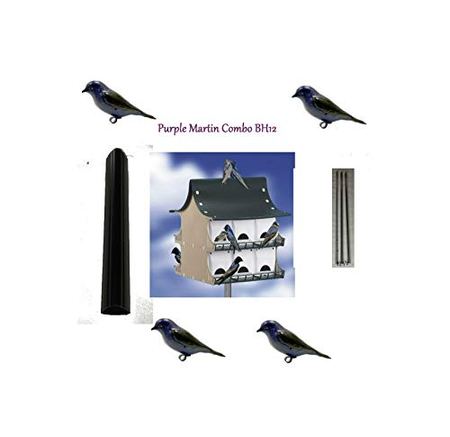 Reliable 12 Family Purple Martin Lightweight Bird House Green/Tan US Low Mainteance Quick Delivery