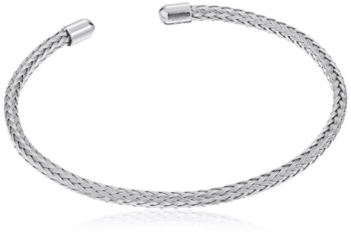 Braided Cable Bracelet (Stainless Steel Braided Cable Bangle Bracelet)
