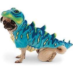 Rubies Costume Company Blue Dino Hoodie for Pet, Azul, Mediano