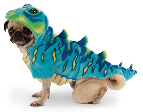 [Blue Dino Hoodie for Pet, Large] (Dino Costumes For Dogs)
