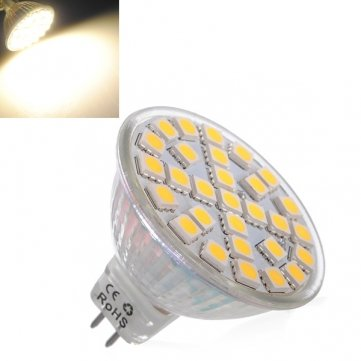MR16 5 W Alta calidad blanca cálida 29 LED 5050 SMD bombillas del punto 220 V: Amazon.es: Iluminación