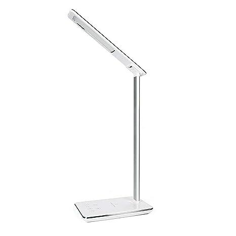 2 en 1 lámpara de escritorio LED USB regulable con cargador ...
