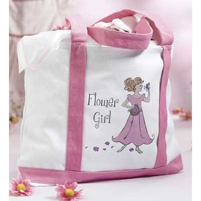 ower Girl Canvas Tote Bag Gift (Flower Girl Canvas Tote Bag)