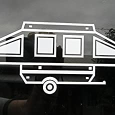 Pop Up Camper Travel Trailer Vinyl Car Window Decal