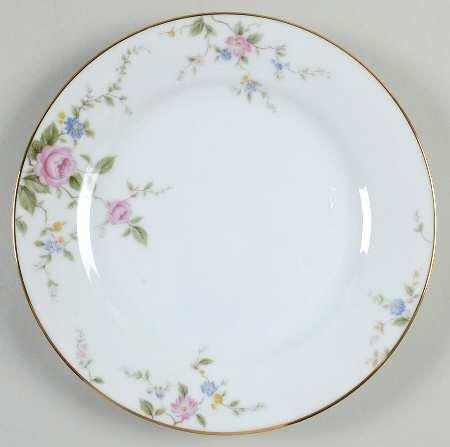 Noritake China FIRENZE Salad Plate - pink roses - 6674