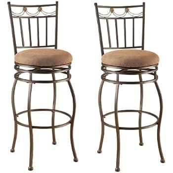 Amazon Com Acme 96051 Set Of 2 Tavio Swivel Bar Chair 29