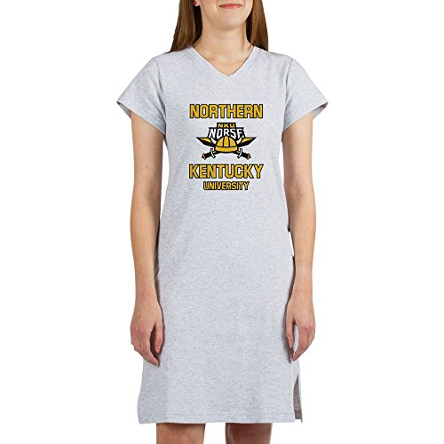 CafePress Northern Kentucky NKU Norse Soccer T-Shirt Women's Nightshirt, Soft Long Pajama Shirt, Cotton PJs/Pyjamas Heather Grey