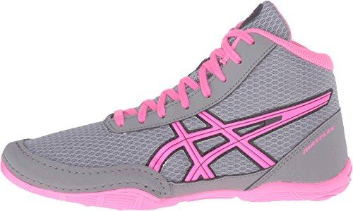 asics matflex 5 gs aluminum/hot pink