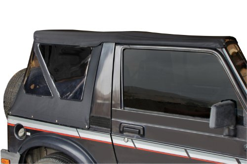 1986 1992 Jeep (Rampage Jeep 98535 Soft Top, Replacement Plus, 1986-1994 Suzuki Samurai, Black Diamond with Zippered Tinted Windows)
