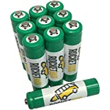 10-Pack RocketBus AAA Replacement Battery for Panasonic HHR-55AAABU Cordless Phone 1.2V 550mAh Rechargeable NI-MH