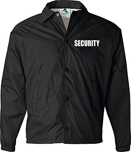 Security jacket, nylon, security guard jacket, law enforcement, (Security Windbreaker)