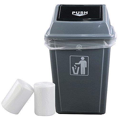 Idomy 18 Gallon Clear Trash Bag, Heavy Duty, 100 Counts ()